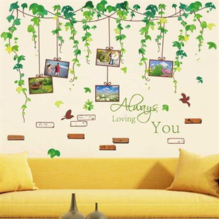 TipTop Wallstickers Leafy Vines Pattern
