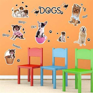 TipTop Wallstickers Lovely Dogs Pattern