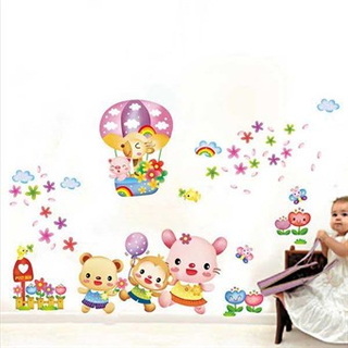 TipTop Wallstickers Cute Cartoon Animals Pattern