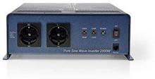 Nedis Strömväxelriktare, ren sinusvåg | 24 V DC - 230 V AC | 2 000 W | 2x Schuko-uttag