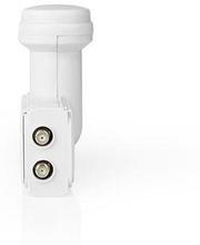 Nedis LNB | Tvilling | Utgångsanslutning: 2x F-kontakt | Brusfaktor omfång: 0.70 dB | Omvandlingsförstärkning: 53-66 dB | Vit