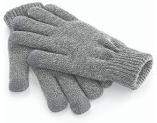 Touch Screen Smart Gloves Heather Grey