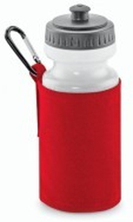 Water Bottle and Holder Classic Red