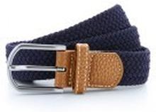 Braid Stretch Belt Navy