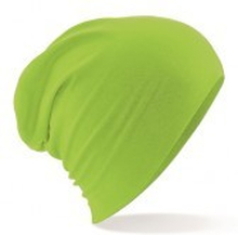 Hemsedal Cotton Slouch Beanie Lime Green