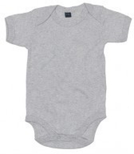 Baby Bodysuit Heather Grey Melange