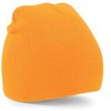 Beanie Knitted Hat Flourescent Orange 13
