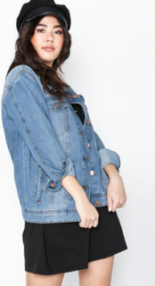 Noisy May Nmole L/S Med Blue Denim Jacket Noo Denimjakker