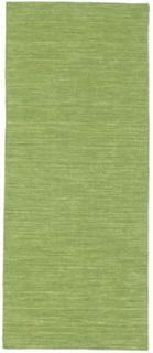 Kelim loom - Grön matta 80x200 Modern, Avlång Matta
