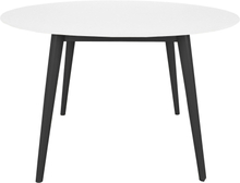 Hugo - Hvidt rundt spisebord med sorte ben Ø120 cm - mindre fejl (B89)
