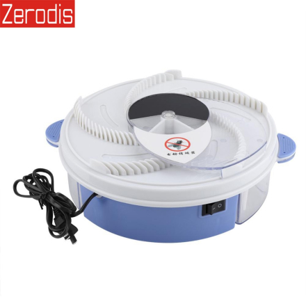 Electric Effective Fly Trap Device Pest Repeller With Trapping Food Rotating Plate Home Mosquito Repellent US Plug