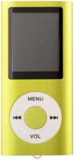 eStore Slim MP3 Spiller med TF Kort og FM Radio Support - Grønn