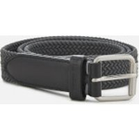 Ben Sherman Men's Barbican Plaited Belt - Grey - S-M - Grey