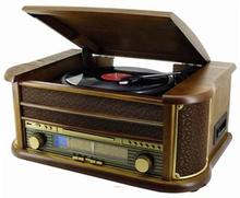 Retro Line Vintage Skivspelare/CD/Kassett/Radio