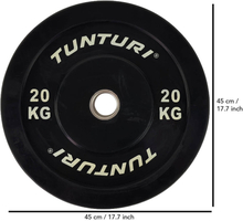 Tunturi Vægtskive 20 kg Sort