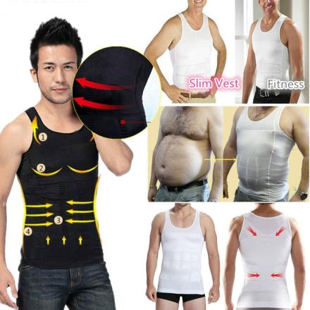Men Shapers Sleeveless Firm Tummy Belly Buster Vest Control Slimming Belt Hot Shaper Underwear Shirt Sauna Vest Face Lift Tool