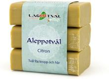 Aleppotvål med doft - 4% lagerbärsolja, 3 x 125 g, Citron