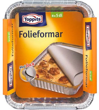 Toppits Toppits Folieformar 5 dl, 8 st 190810TOPP Replace: N/AToppits Toppits Folieformar 5 dl, 8 st