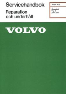 VOLVO ÖVERVÄXEL Typ J Servicehandbok Reparation och underhåll
