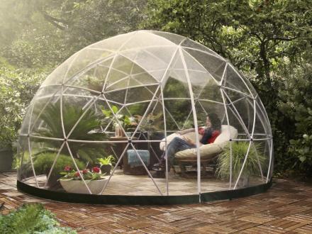 Garden Igloo Vit Transparent Duk