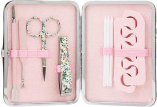 The Vintage Cosmetics Company Pedicure Purse - Pink/Floral Satin