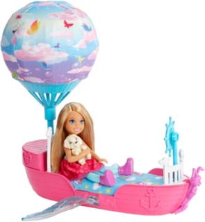 Barbie, Chelsea, Dreamtopia, Dukke og båd