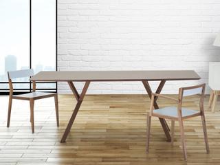 Matbord mörk valnöt - köksbord - 180 cm - matsalsbord - LISALA