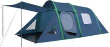 vidaXL Campingtält med uppblåsbara stänger 500x220x180 cm grön