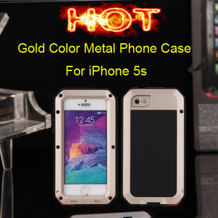 2017 Hot 6 Colors Weather/Dirt/Shock proof Metal Alloy gorilla glass FingerPrint mobile phone bags & case for iphone 5/5s/SE