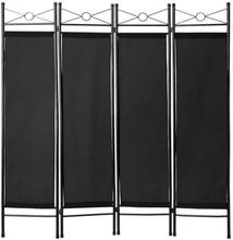 Rumsavdelare vikskärm - svart