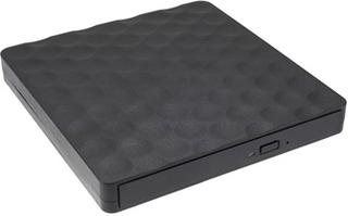 Transportabel Optisk Dvd Brænder med Indbygget Kabel - Sort