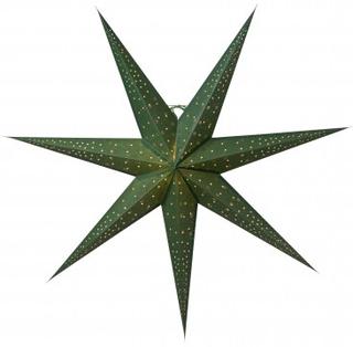 Julstjärna Isadora, grön/guld