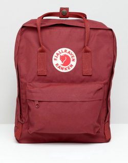 Fjallraven Kanken Backpack In Red - Oxblood red
