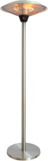 Qlima gulvstående terrassevarmer 2100 W sølv PEP 1021S
