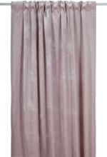 Sammet gardinlängd 300x135 cm - Rosa