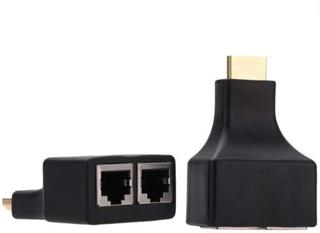 2x HDMI till RJ45 Dual Port Förlängare upp till 30m