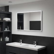 vidaXL vægspejl med LED til badeværelset 100 x 60 cm