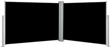 vidaXL Infällbar sidomarkis svart 120x1000 cm