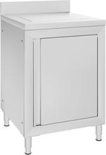 vidaXL kommercielt køkkenskab med afløbsbakke rustfrit stål