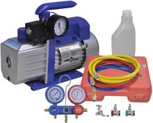 vidaXL ettrins-vakuumpumpe med tovejs-trykmålersæt med manifold