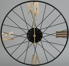 Väggklocka D60 cm - Svart/Guld
