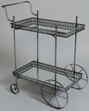 Prince Mini serveringsvagn - Antikt silver