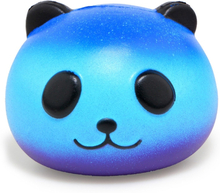 Jumbo Squishy Colorful Galaxy Panda Cute Slow Rising Stress Reliever Soft Squeeze Toy PU Bread Scented Xmas Fun Gift for Kid