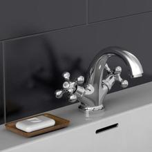 SCHÜTTE blandingsbatteri med to håndtag til håndvask ELK krom