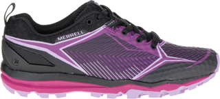 Merrell W's All Out Crush Shield Shoes BLACK/PURPLE 37,5 2016 Terrengløpesko