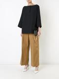 Jil Sander boat neck blouse - Black