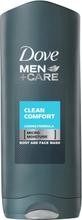 Dove Men +Care Clean Comfort Showergel 250 ml