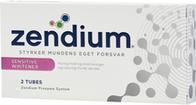 Zendium Sensitive + Whitening Hammastahta 2 x 50 ml