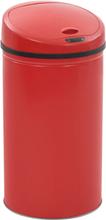 vidaXL Soptunna med sensor 42 L röd