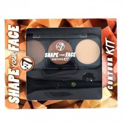 W7 Shape Your Face Contour Kit 6 g + 1 kpl